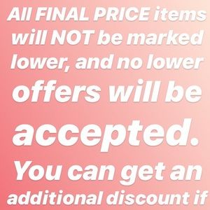 Other - FINAL PRICE ITEMS